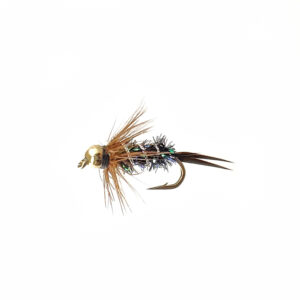 A bead head nymph for fly fishing.