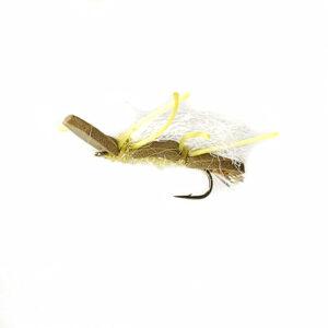 A foam terrestrial for fly fishing.